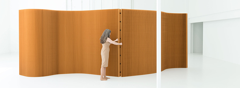 Paper Softwall Room Divider - Folding Cardboard Wall Dividers
