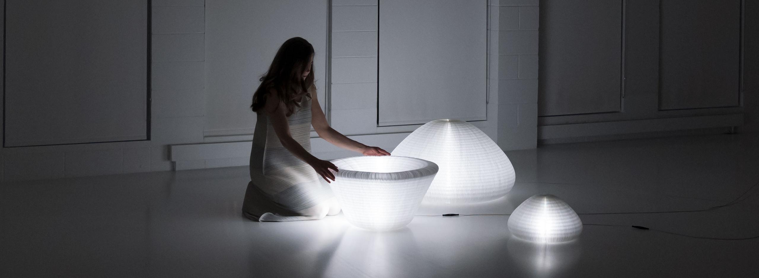 urchin softlight - Shape Shifting Lamp Lights - Paper Lighting