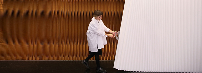 Felt Handles for Paper Softwall Room Divider