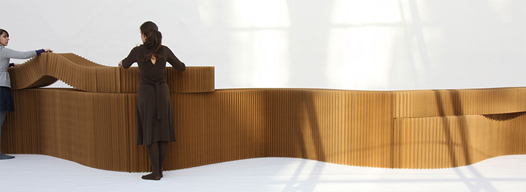 modular wall system - paper furniture - folding room dividers