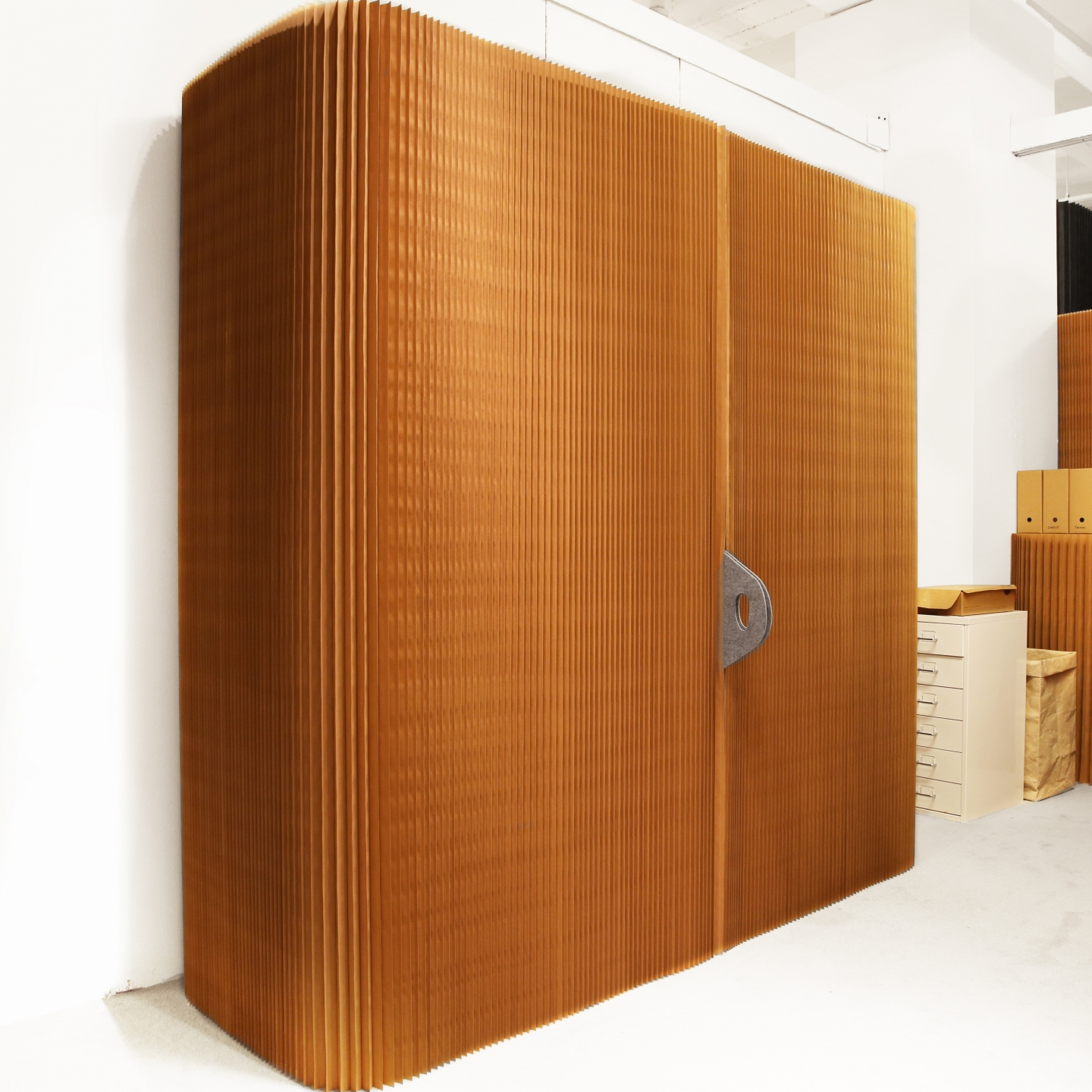 thinwall / acoustic wall liner and cabinet enclosure - paper furniture by molo