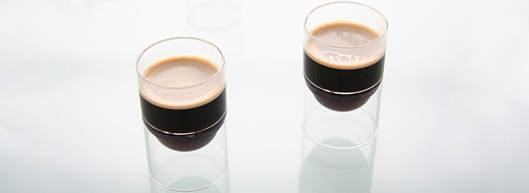 Espresso in a float liqueur glass.