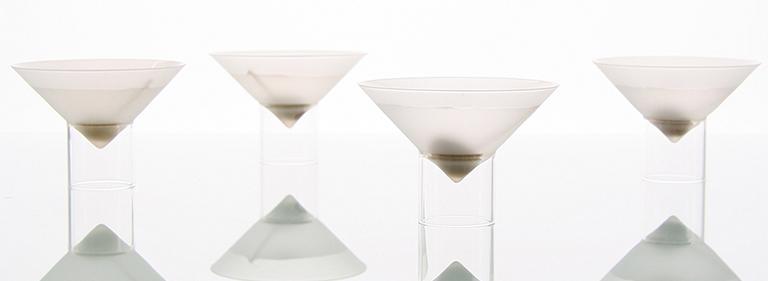 float glassware - barware - martini glasses.
