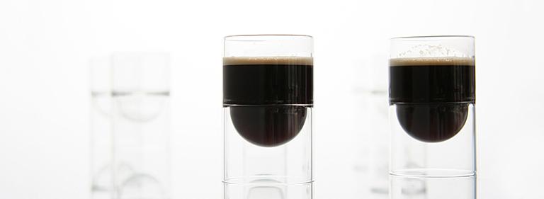espresso in float liqueur glasses.