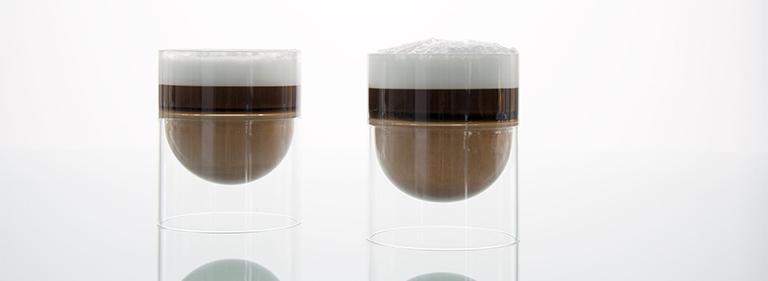 cappuccino in float glassware