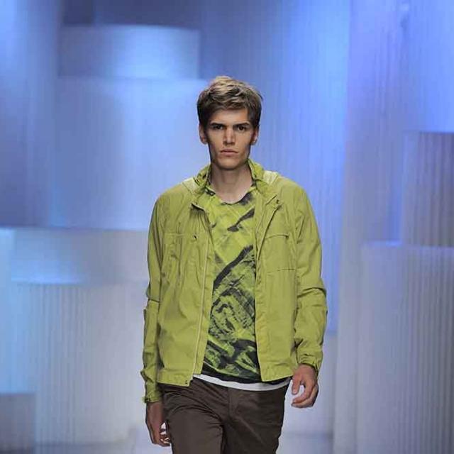 molo white textile softblocks at the Armani Milan Fashion Week presentation