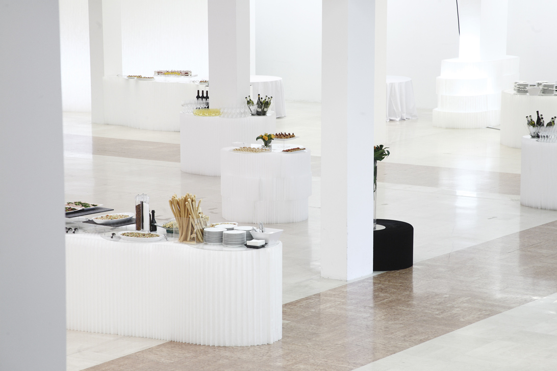 molo white textile softblocks at the Bologna Gallery of Modern Art Event
