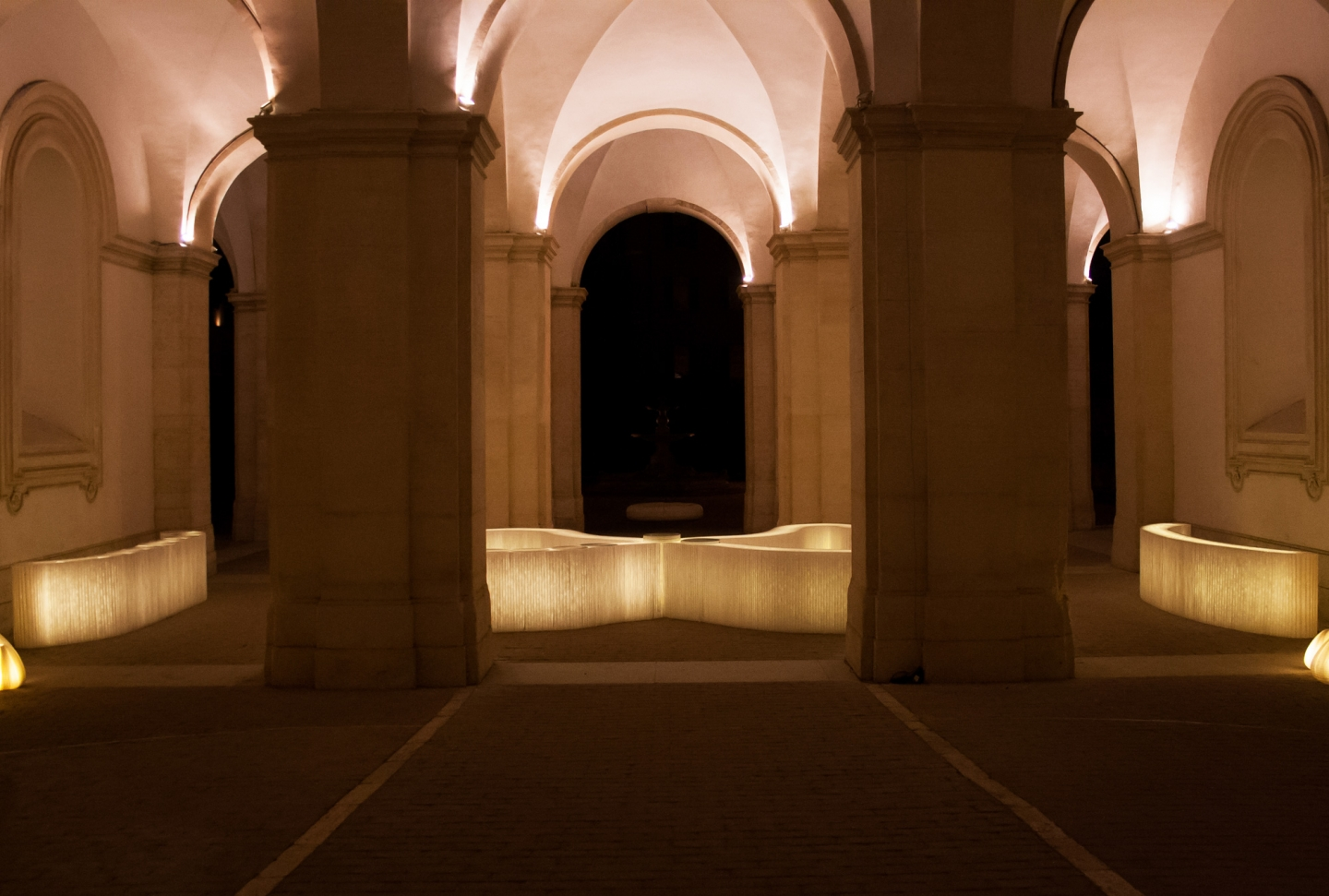molo white textile softblocks + LED at the Chamber Music Festival 2013 in Rome