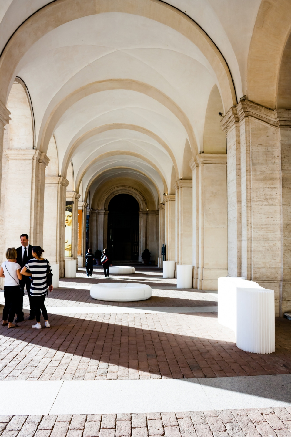 molo white textile softblocks and lounger softseating at the Chamber Music Festival 2013 in Rome