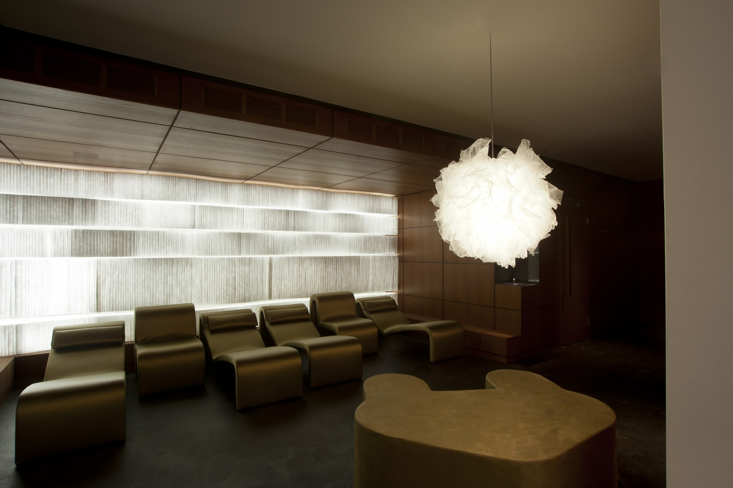 molo white textile softblocks + LED at the Eichstätte Spa in Zug, Switzerland