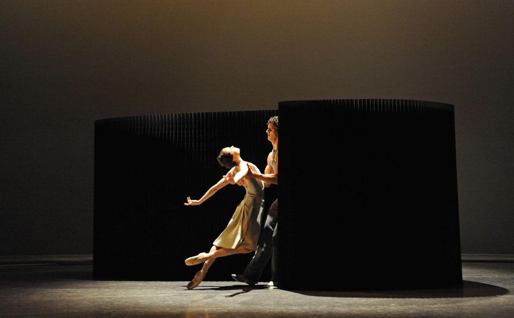 molo black textile softwalls + softblocks for Lyric Pieces, choreographed by Jessica Lang and performed by Birmingham Royal Ballet
