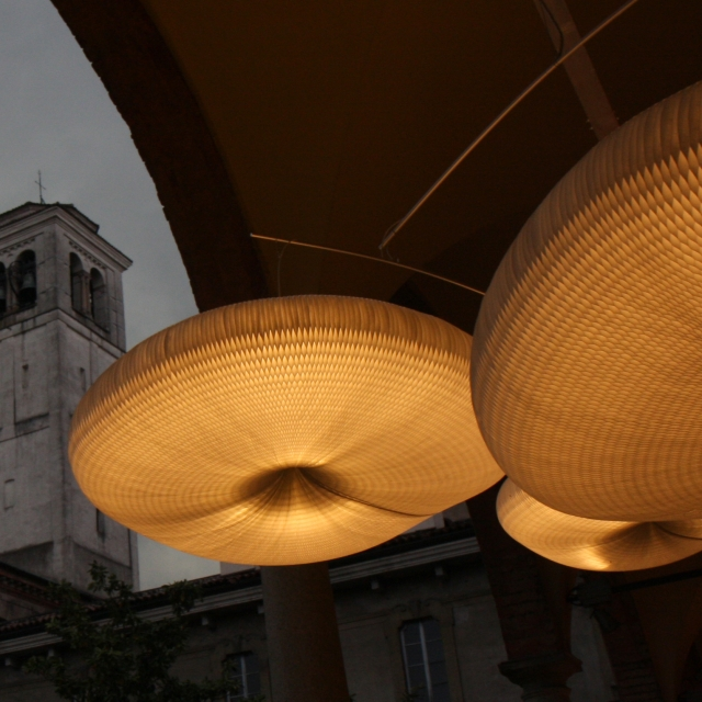 at night: cloud softlight mobile for MOST in Milan