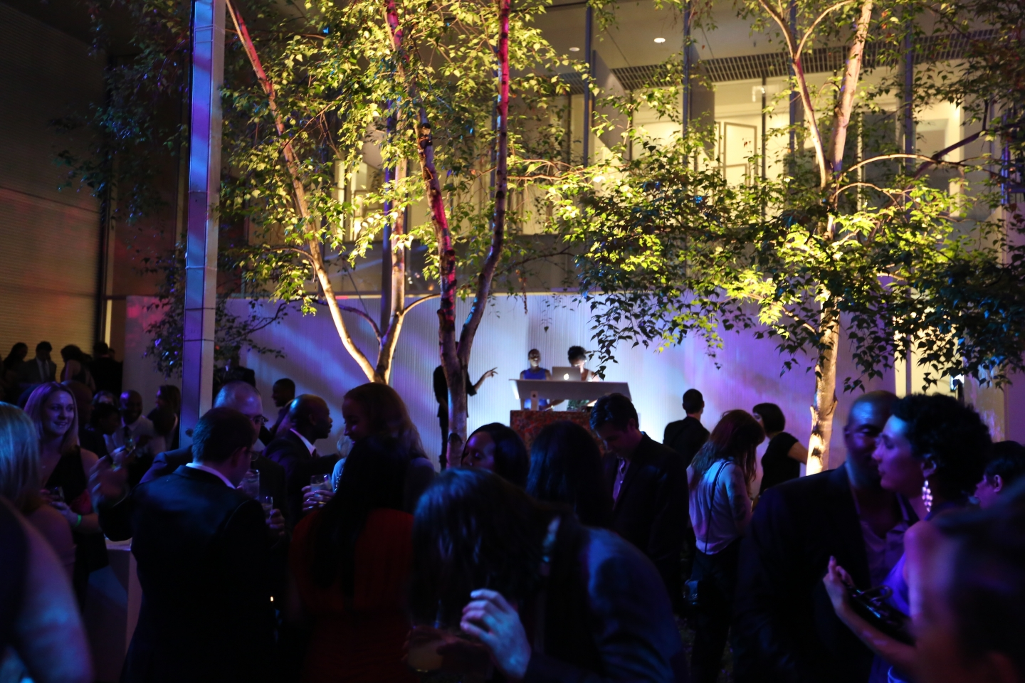 molo white textile softwalls + softblocks with LED at MoMA Party in the Garden in New York
