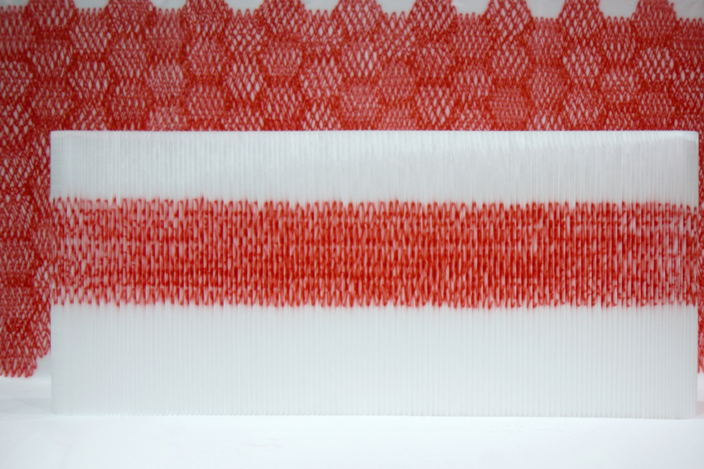 Sasaki heartbeat softwall installation at Dwell on Design in Los Angeles