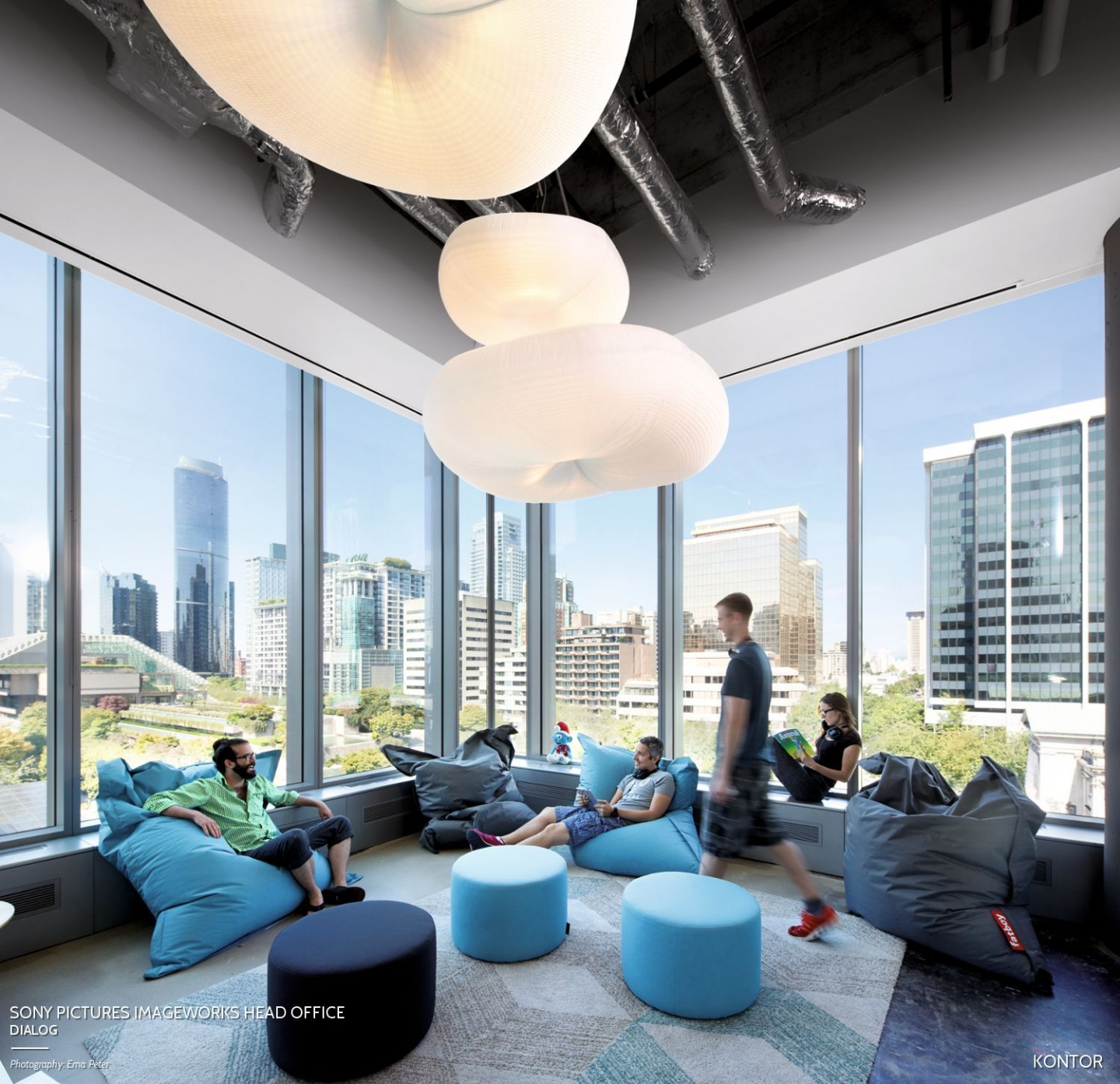 molo cloud light pendants at the Sony Pictures Imageworks Head Office in Vancouver, Canada.