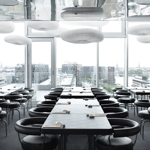 molo cloud light pendants at the Sticks'n'Sushi restaurant in Copenhagen