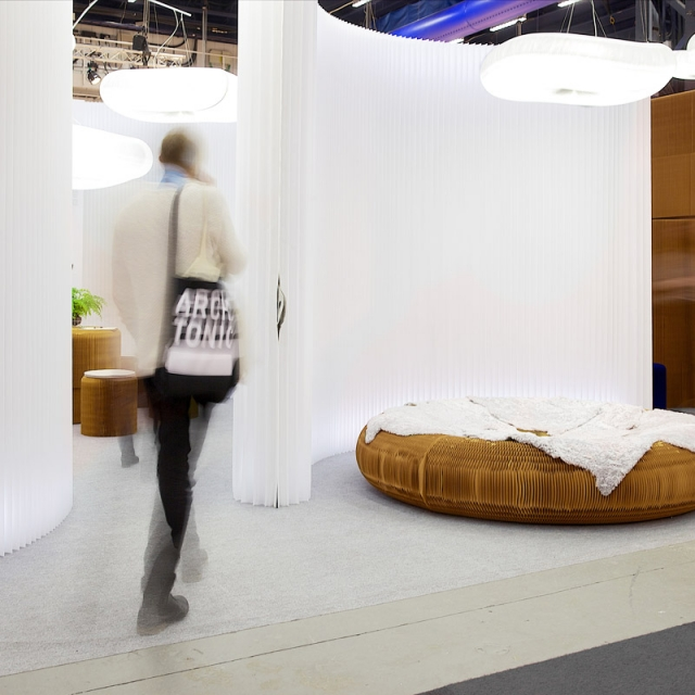 molo's installation at Stockholm Furniture Fair 2014