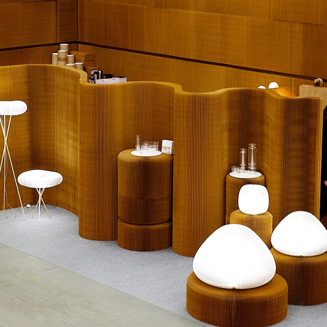 molo's installation at Stockholm Furniture Fair in 2014
