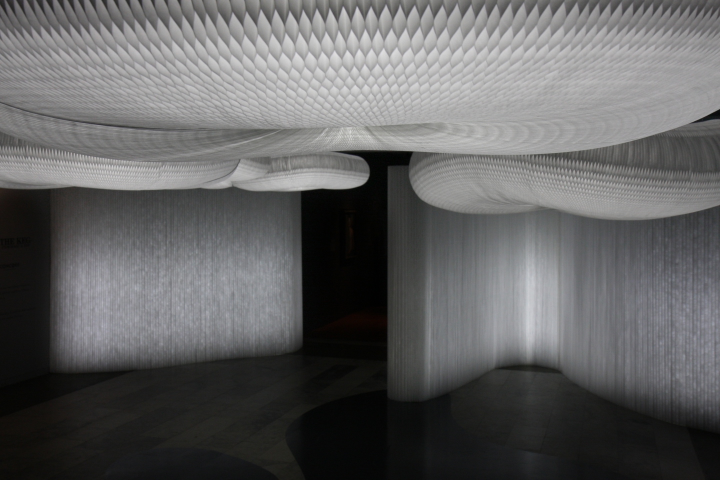 molo white textile softwall + LED and cloud softlight at the surrealist exhibition at the Vancouver Art Gallery