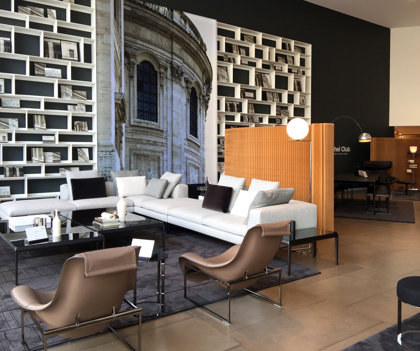molo brown paper softwall at B&B Italia in London