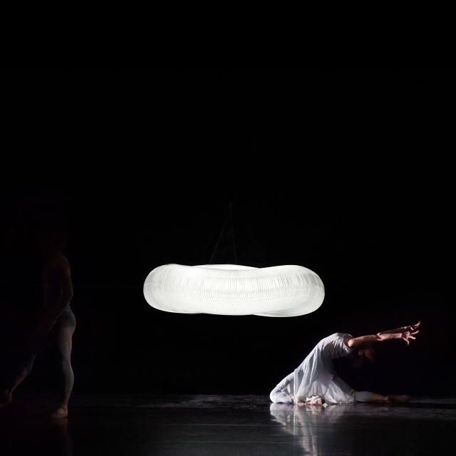 cloud softlight pendants for Jessica Lang's Escaping the Weight of Darkness performance
