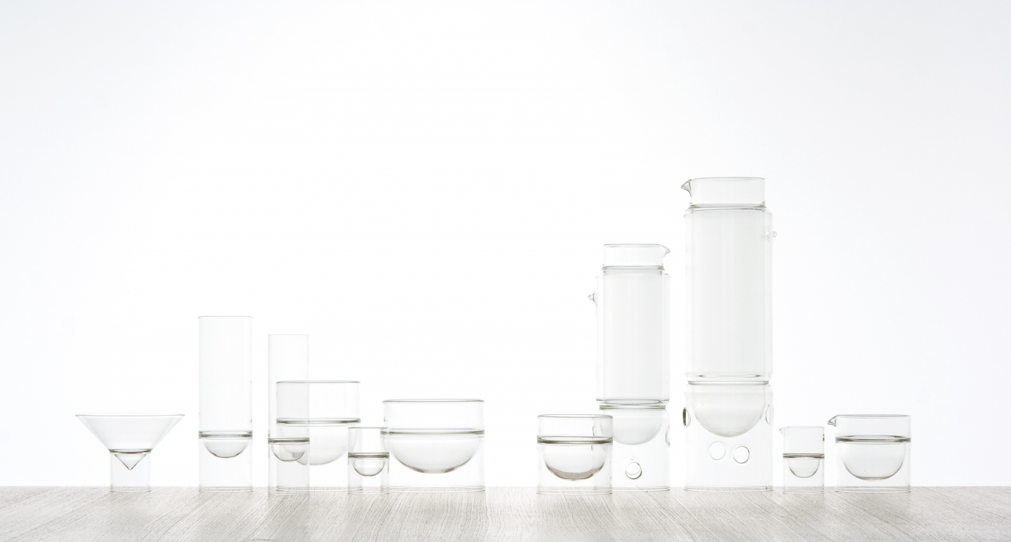 The complete float glassware family.
