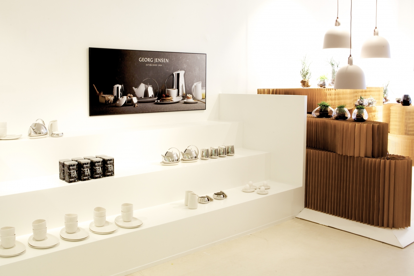 molo brown paper softblock retail display at Georg Jensen in Copenhagen