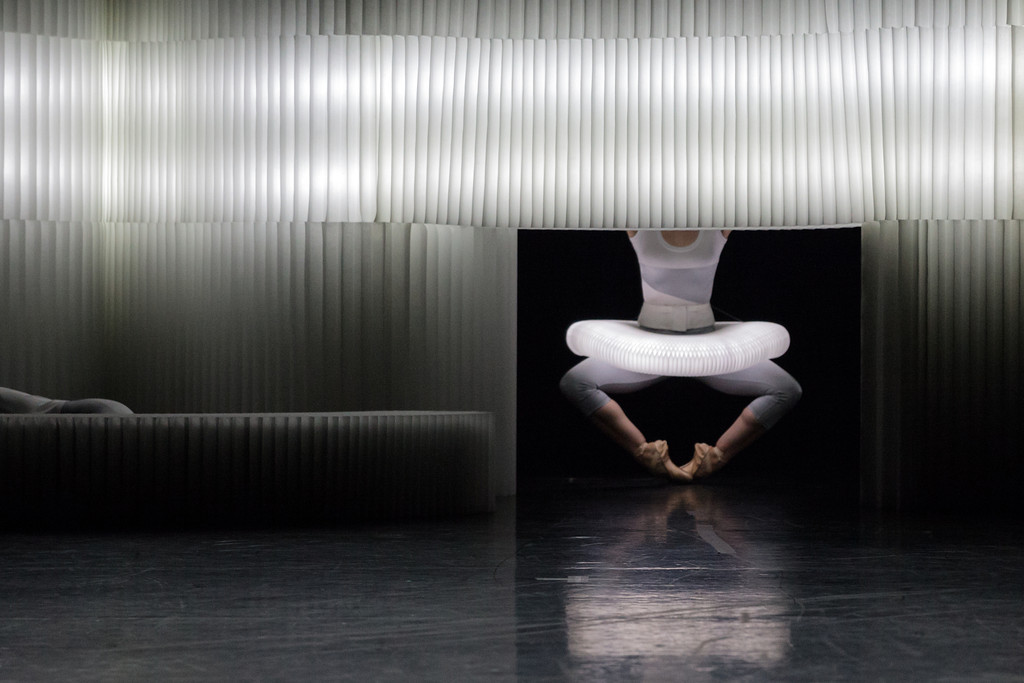 molo white textile softblocks for the Within the Space I Hold performed by Jessica Lang Dance