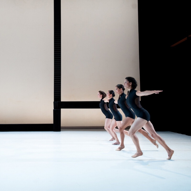 molo black and white textile softblocks for Lines Cubed, performed by Jessica Lang Dance