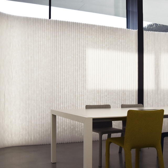 molo white textile softwalls at the Kristalia offices in Italy