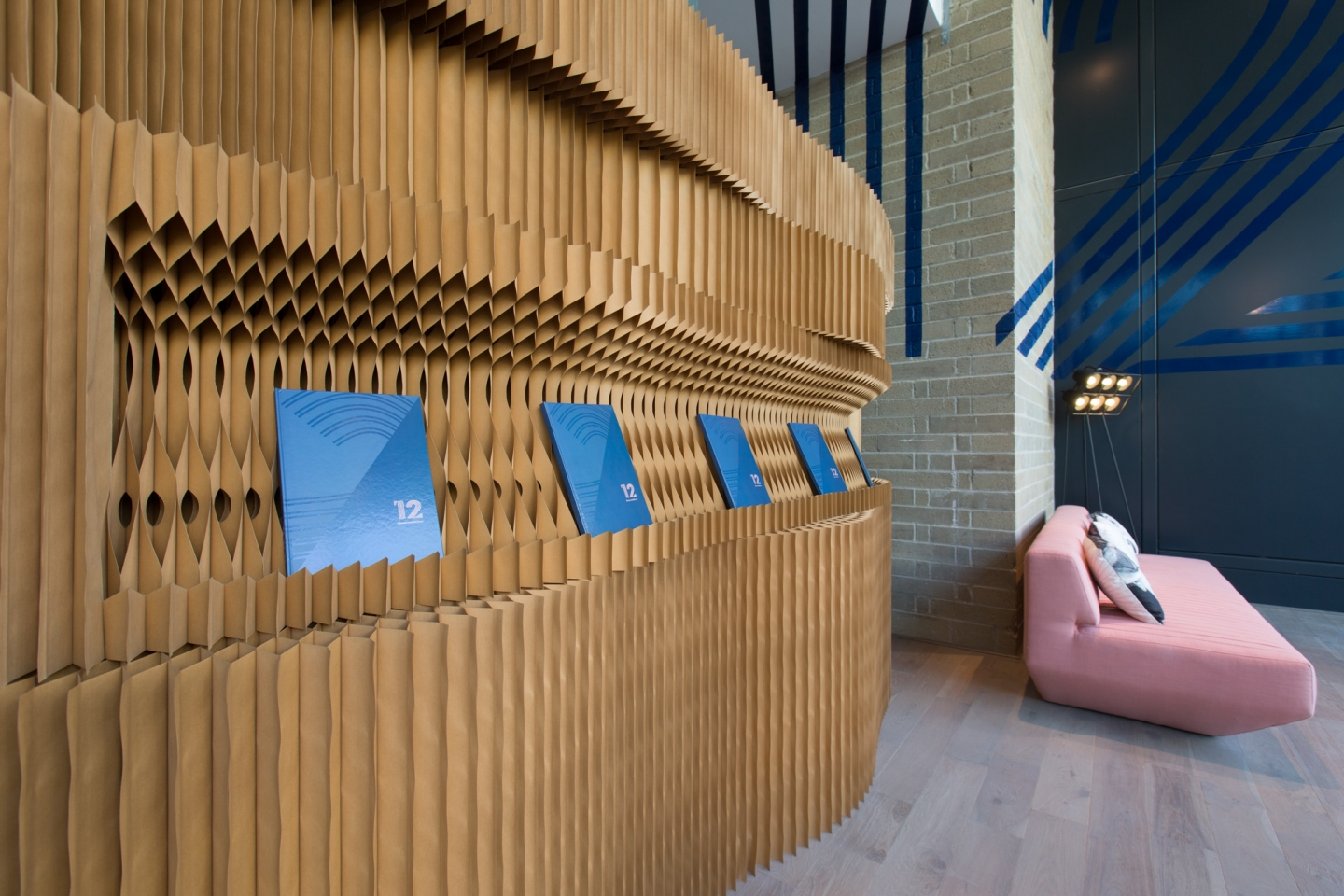 molo brown paper softblocks with notch cut at 10 Hammersmith Grove offices in London