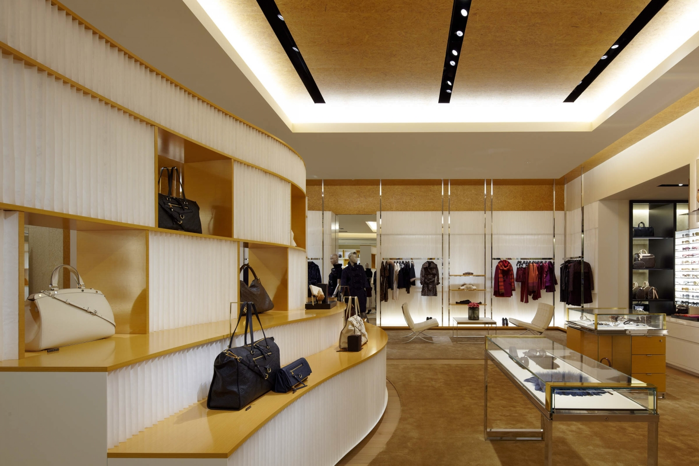 molo white textile softblocks and cloud softlight at Louis Vuitton in Osaka, Japan