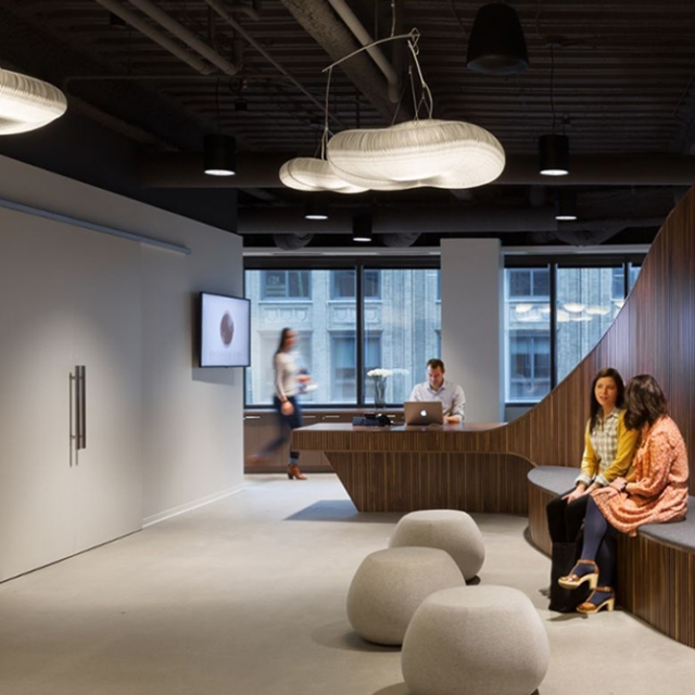 molo cloud light mobiles at the Martin Williams office in Minneapolis