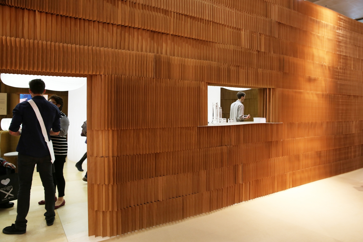 molo's installation at ICFF 2013 was made from softblocks that were connected and stacked to reach 15' high.