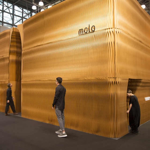exterior of molo's installation at ICFF 2017