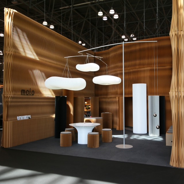 room to experience molo's products at the ICFF 2017 installation