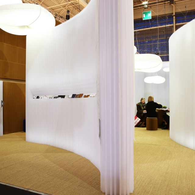 modified textile softwall at Maison & Objet 2014
