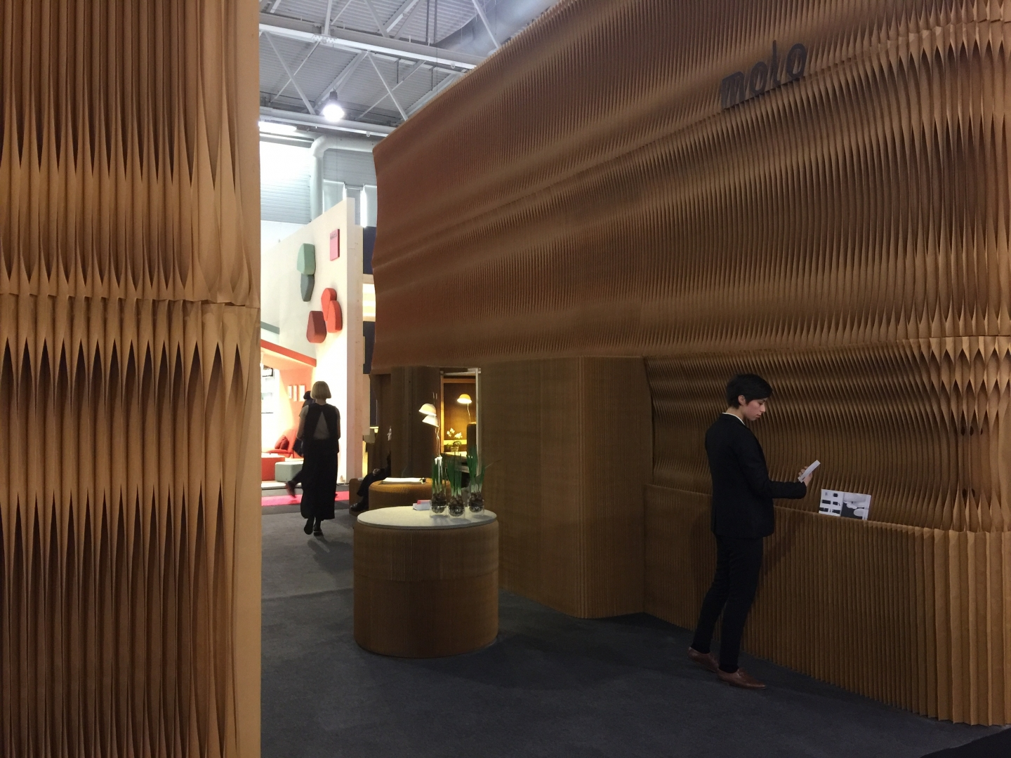 molo's soft collection on display at Maison & Objet