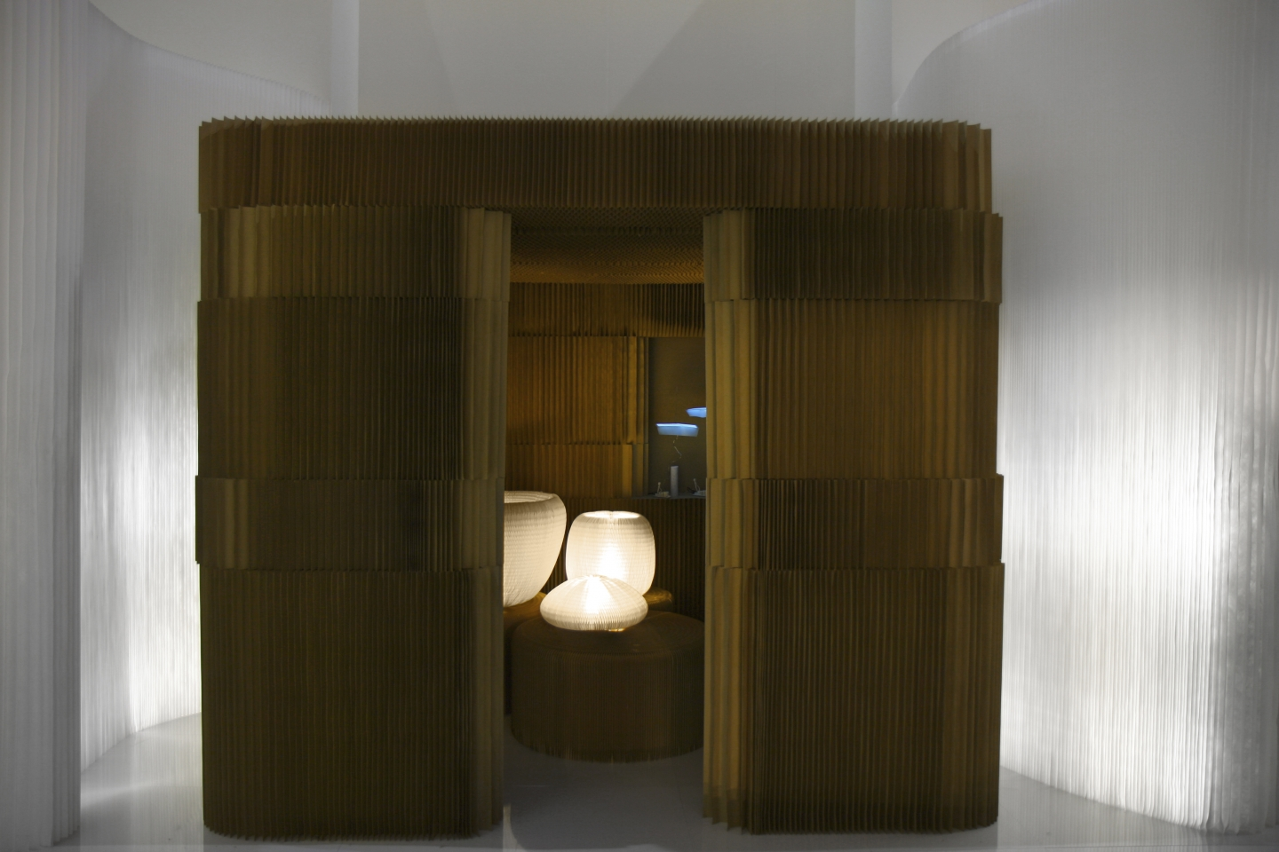 paper softblock / modular room divider + urchin - molo soft collection of flexible, modular space partitions, seating, tables and lighting at Maison & Objet 2010 in Paris