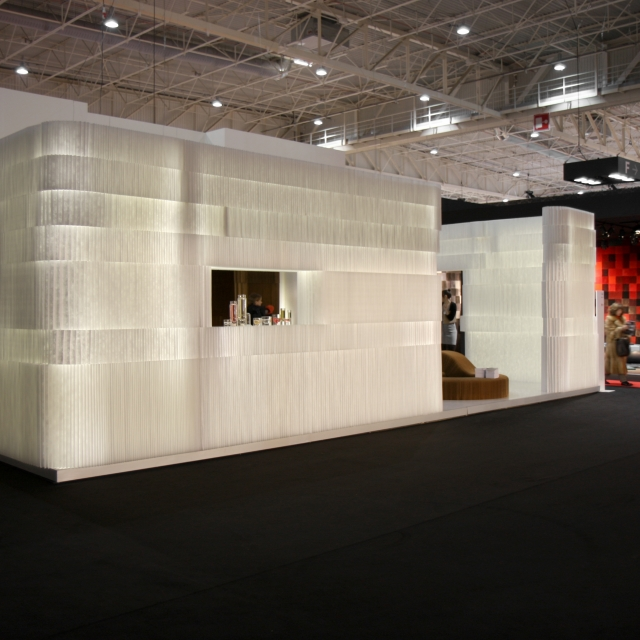 molo soft collection of flexible, modular space partitions, seating, tables and lighting at Maison & Objet 2010 in Paris