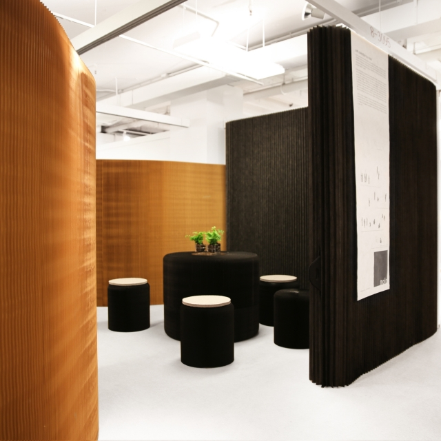molo's installation at Neocon 2014 featured the premiere of benchwall and thinwall modular system