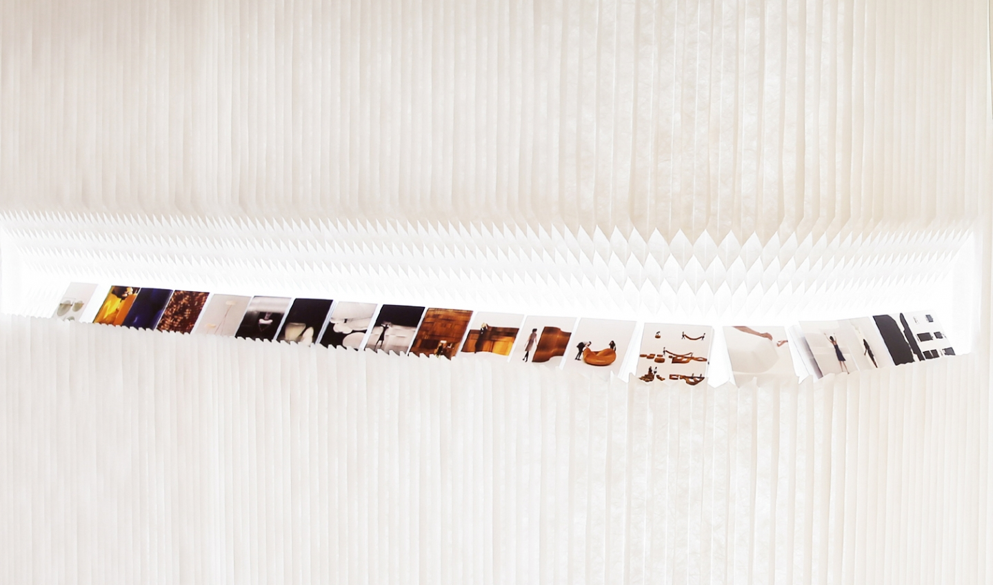 textile wall partition in white - honeycomb paper furniture by molo