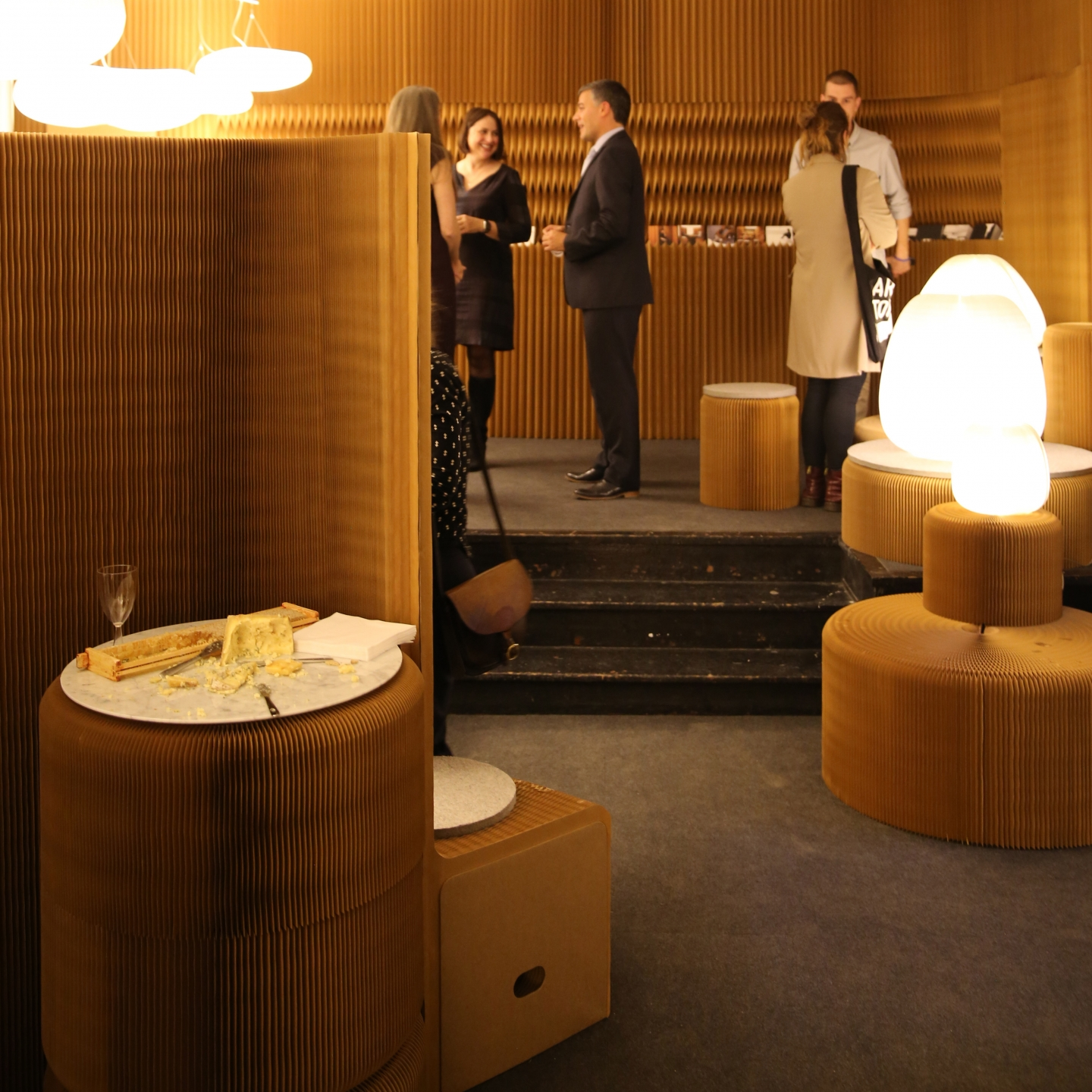 molo's installation at Design Junction London featured cloud mobiles, softwall + softblock as well as softseating and urchin softlight