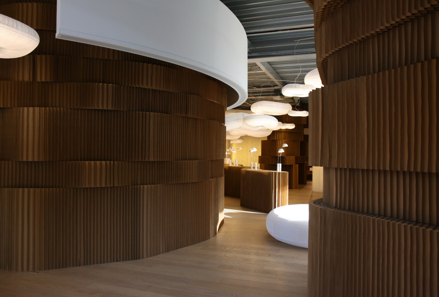 paper room dividers / modular partitions by molo