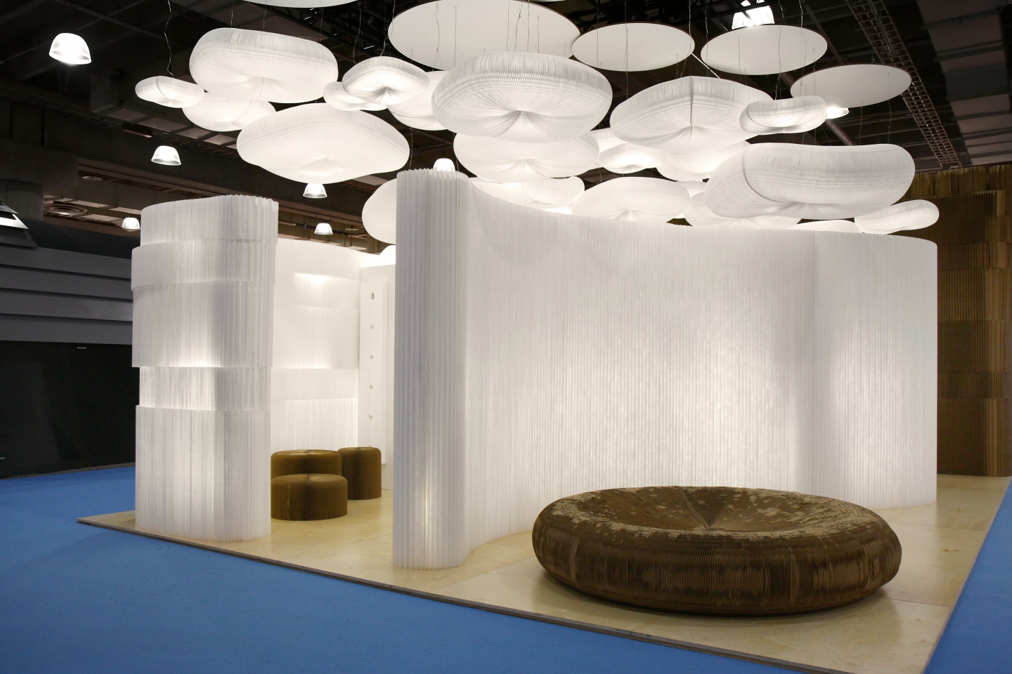 molo soft collection of flexible, modular space partitions, seating, tables and lighting at ICFF 2010 in New York