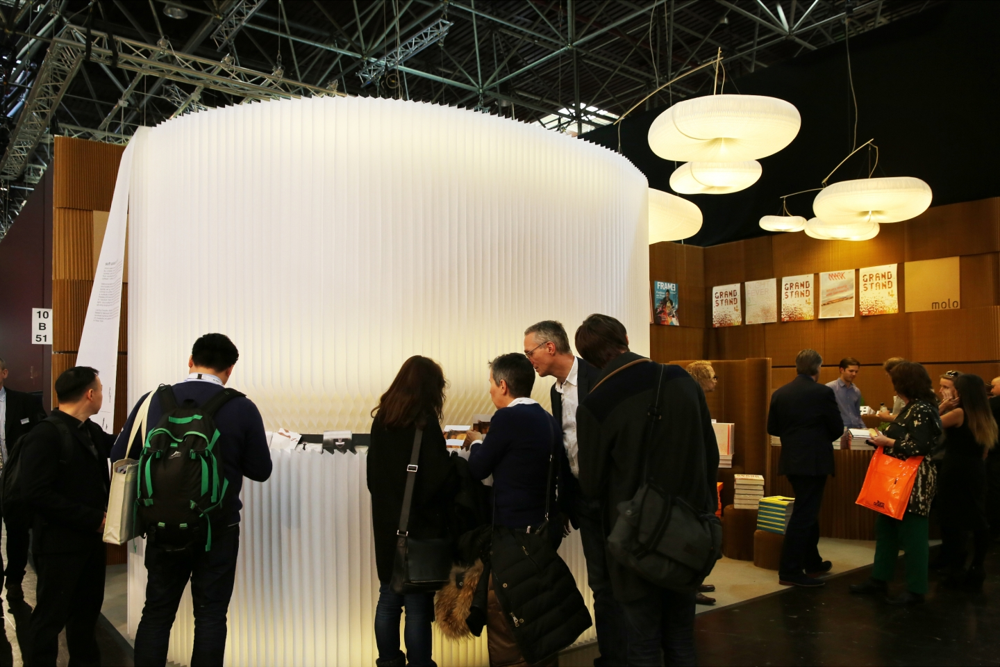 modular / acoustic portable wall partitions, paper chairs and furniture and cloud pendant lighting by molo - a product display for FRAME Magazine made from the soft collection