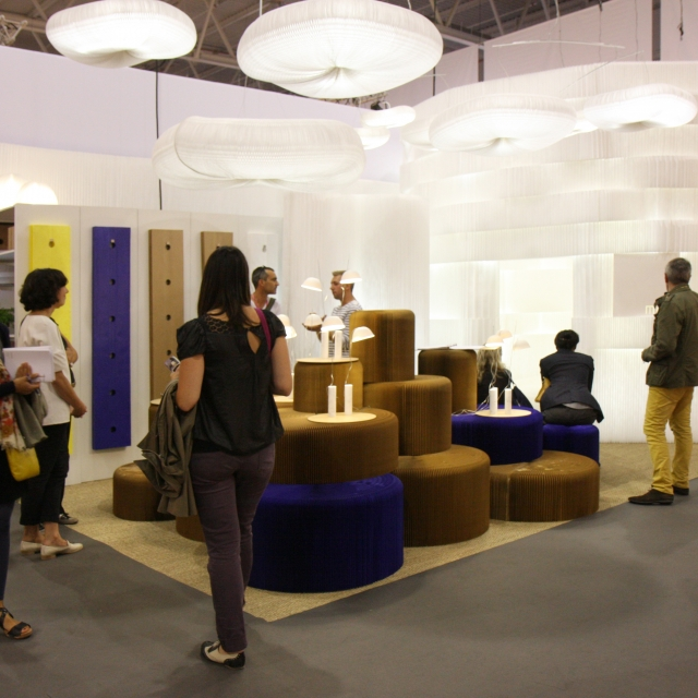 molo's installation at Maison & Objet 2011 featured custom colour softwalls, softseating, cappello and LED for textile softblock.