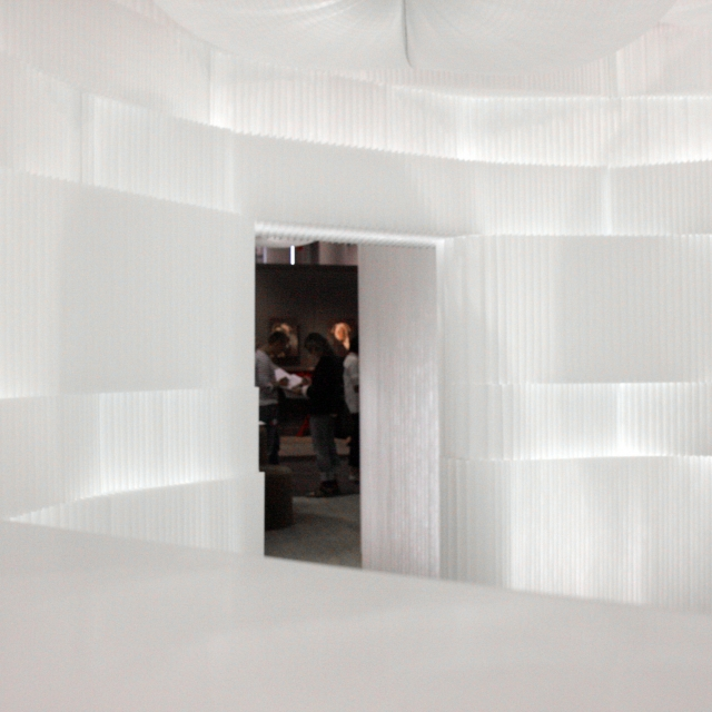 A room of gentle light; illuminated by cloud softlight and LED integrated with textile softblock.