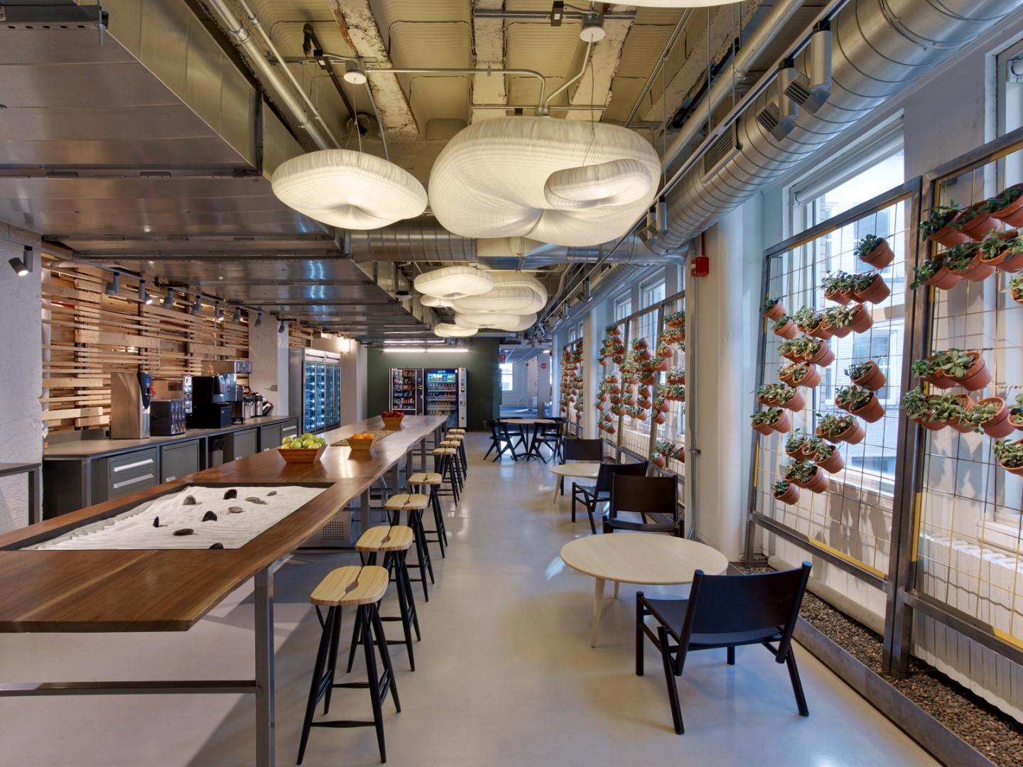 molo cloud light pendants at the Motorola offices in Chicago