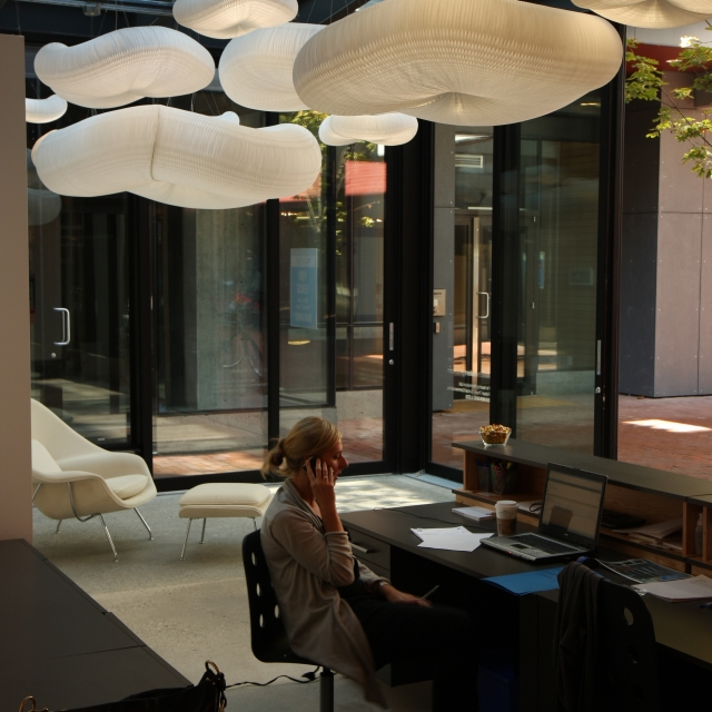 molo cloud light pendants at the Paris Annex in Vancouver, Canada